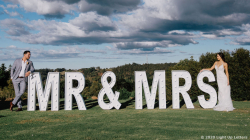 MR & MRS Light Up Letters