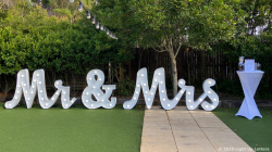 MR & MRS Scripted Light Up Letters