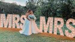 MRS & MRS Light Up Letters