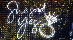She Said Yes Neon Sign