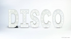 DISCO Light Up Letters