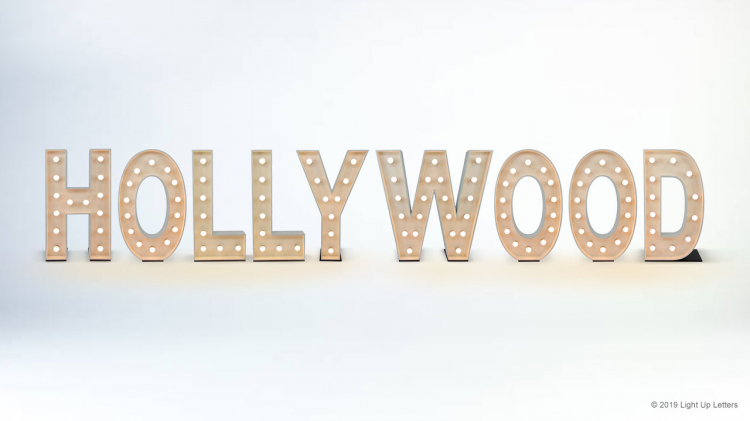 HOLLYWOOD Light Up Letters