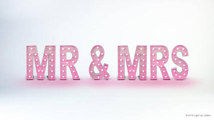 MR & MRS Light Up Letters