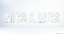MRS & MRS Light Up Letters