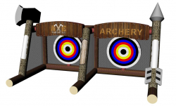 Inflated Archery and Axe Throwing