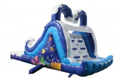 Ocean Wet Slide back 837029285 Lil Ocean Slide wet/dry 20'L x 9'W x 8'H
