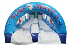Surf the Wave Slipnslide entrance 636529150 Slip and Slide dual lane 30'L X 10'W X 8'H