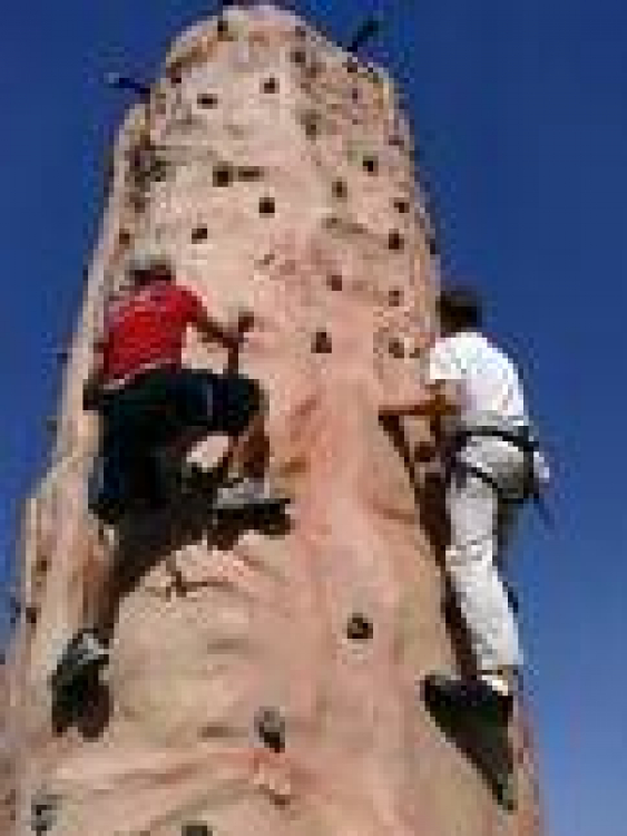 4 Sided Rock Climbing Wall