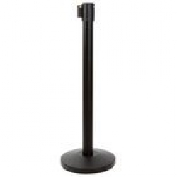 Black Retractable Rope and Stanchion