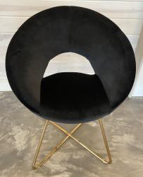 Sophia Black Velvet Chair