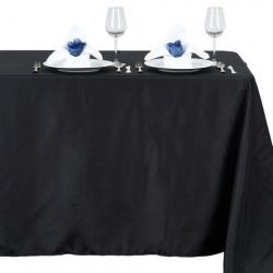 Rectangle Table Linens - Black