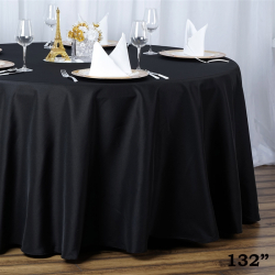 Round Table Linens - Black