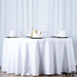 Round Table Linens - White
