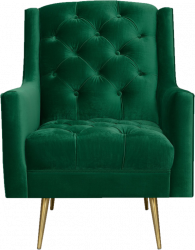 Emerald Green Wingback Chair