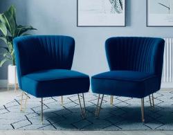 Navy Blue Velvet Chairs