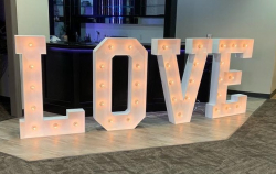 LOVE Letters (4' Tall)(Lighted)