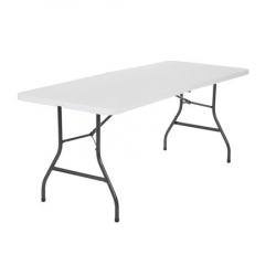 8 Foot Centerfold Folding White Table
