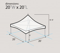 dim 20X20 Hi Peak Frame Tent