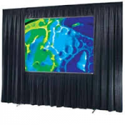 Projector screen draperies