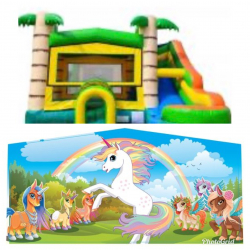 Unicorn Theme Tropical Bounce Combo