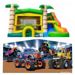Monster Truck Theme Tropical Bounce Combo