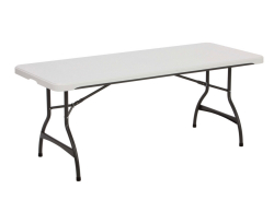 6' Folding Table - White