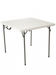3'  Square Table- White