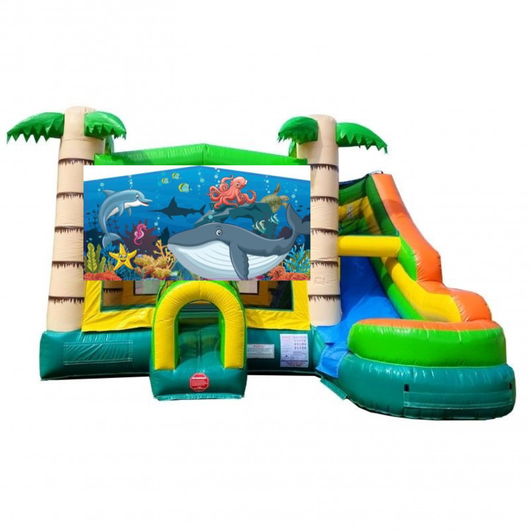 Under the sea Theme Tropical Bounce Water Combo
