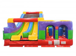 58' Retro Radical Run Inflatable Obstacle Course