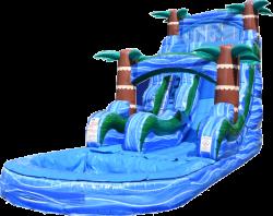 Blue Hurricane Water Slide - 18ft