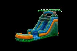 Tropical Emerald Rush Water Slide 15 ft.