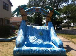 10ft Waterslide With Pool Tropical Themed Rental