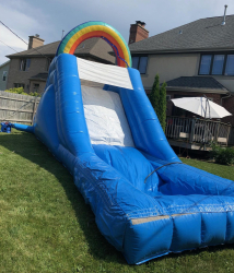 18ft Waterslide With Pool Rainbow Themed Rental
