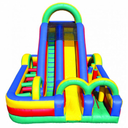 Funhouse Obstacle Course 18Ft Slide Moonbounce Rental