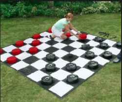 Giant Checker Game Rental