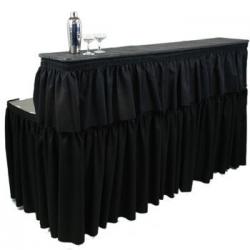 6 Ft. Two Tier Bar W/ Skirt (Black)