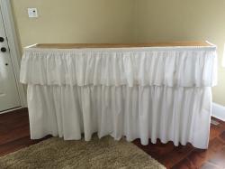 6 Ft. Two Tier Bar W/ Skirt (White)