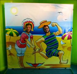 Photo Frame Beach Scene