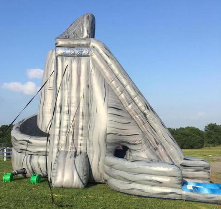 Inflatable Water Slide Rental Kansas City: 27ft Hurricane Water Slide