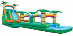 22ft Tropical Waterfall Water Slide