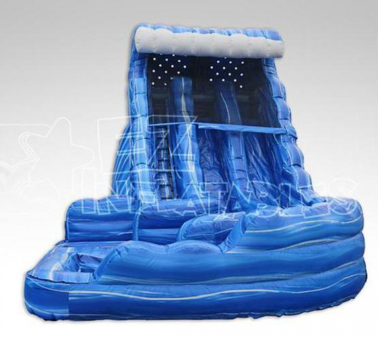 Inflatable Water Slide Tall: 18ft Ocean Curvy Water Slide