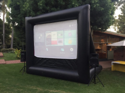 16-ft (12'x9' Viewable) Backyard Movie Screen