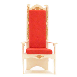 Santa Chair (white with red cushion)