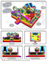 CandPlayland 5view Panel 4 692124786 Candyland Toddler Bounce House Combo
