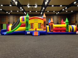 Crayon.ComboW.Obstacle 856528168 Crayon Bounce House Combo