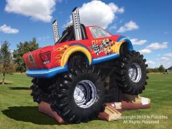 Monster.Truck 649663419 monster Truck Bounce House Combo
