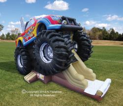 XKGK2091 475869478 monster Truck Bounce House Combo
