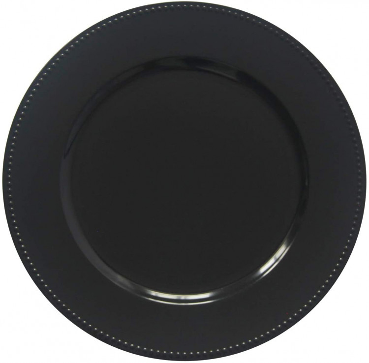 Black Beaded Charger Plate