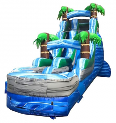 18ft Blue Tropical Slide