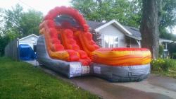 12' Fire Marble Water Slide